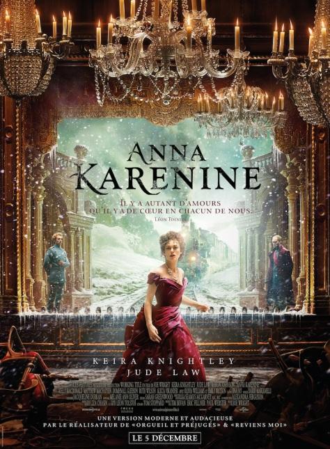 L'adaptation cinématographique d'Anna Karénine en 2012 avec Keira Knightley et Jude Law.